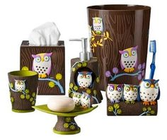 Walmart Owl Set For The Bathroom Owls Pinterest Walmart And Owl Awesome Owls  Bathroom Set Amazon