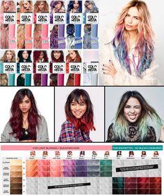 Pintando o cabelo de azul (sozinha) com Colorista, da L'Oréal - Temporary Hair Color, Semi Permanent Hair Color, Fox Hair Dye, Dyed Hair, Colorista Hair Dye, Dyed Tips, Bleached Hair, Cool Hair Color, Purple Hair