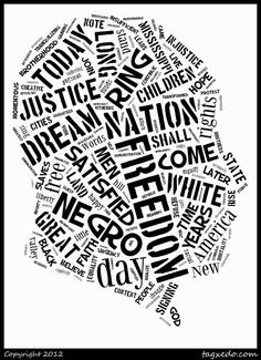 Black history month word cloud- Could be cool as a chalkboard or poster for the window.