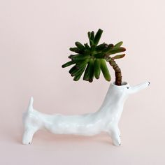Succulent dogs in my shop Porcelain Ceramics, Ceramic Pottery, Ceramic Art, Hanging Plants, Indoor Plants, Candle Packaging, Biscuit, Cute Little Things, Green Life