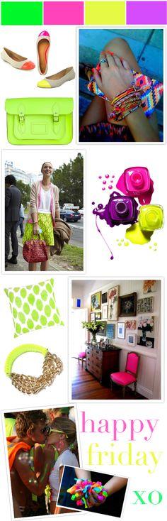 #neon neon everywhere! #fashion #home #nails #inspiration