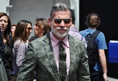 """Nick Wooster, men's fashion director for Bergdorf Goodman and Neiman Marcus.  Described in GQ as """"bad-ass"""".  I agree."""