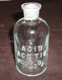 VINTAGE ACETIC ACID APOTHECARY BOTTLE