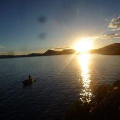 Sunset en el Lago Titicaca