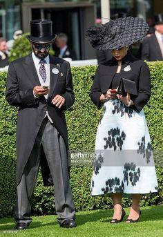 Princess Haya Bint Al Hussein and Sheikh Mohammed Bin Rashid Al Maktoum on day 1 of Royal Ascot at Ascot Racecourse on June 16, 2015 in Ascot, England.  (Photo by Mark Cuthbert/UK Press via Getty Images)