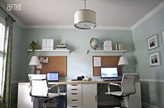Two-Person Computer Workstation | another option would be a long desk that two persons can share you can ...