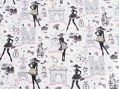 Tissus rétro, La Petite Robe Noire est une création orginale de Route-des-tissus sur DaWanda