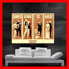 007 James Bond    Poster print  wall art  by DynamitePosters