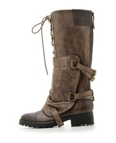 Barbarito boot in brown leather from Aldo, $250. Love these because they look like something Alice (Milla Jovovich) would wear in a Resident Evil movie. Adding to my xmas list for ME!