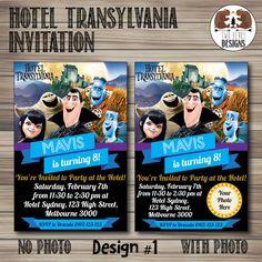 Hotel Transylvania Invitation. Choose from 4 by TwoBearsDesigns