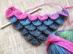Just learning Crocodile Stitch.