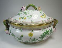 "Large Royal Copenhagen Porcelain ""Flora Danica"" Oval Tureen"