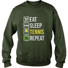 Funny Eat Sleep #Tennis Repeat TShirt, Order HERE ==> https://www.sunfrog.com/Funny/122367795-649139434.html?89700, Please tag & share with your friends who would love it, #christmasgifts #xmasgifts #renegadelife