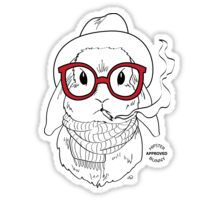Hipster Bunny Sticker