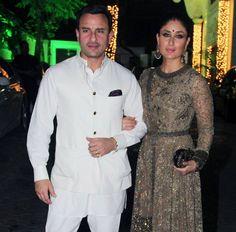 Saif Ali Khan and Kareena Kapoor Khan at Shilpa Shetty's Diwali party Aishwarya Abhishek, Diwali Party, Saif Ali Khan, Shilpa Shetty, Kareena Kapoor Khan, Akshay Kumar, Indian Movies, Antara, Danish