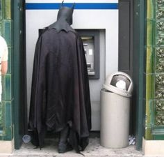 Even the Dark Knight needs to make withdrawals too!