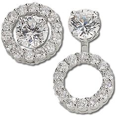 14 Karat White Gold And Diamond Earring Jackets 2 00 Carats These Can Be