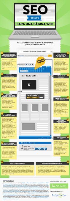 SEO perfecto para una página web #infografia #infographic #seo: excelente post publicado por Alfredo Vela.
