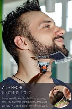 Easy way to get a great looking beard - use this beard guide as guidance, templates for shaving or styling beard Ideal symmetric hairlines - use the curved side of the beard shaping template for easy forming any style Clear view Barber Tips, Beard Line, Beard Cuts, Hair And Beard Styles, Hair Styles, Beard Shapes, Beard Grooming, Facial Hair, Beard Styles
