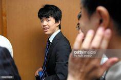 14yearold shogi player Sota Fujii reacts after his victory at Kansai Shogi Kaikan on June 21 2017 in Osaka Japan The 4dan shogi player defeated...