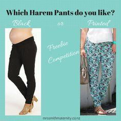 Enter to win: Win a pair of Maternity Harem Pants! | http://www.dango.co.nz/s.php?u=HkbDzA0W2973