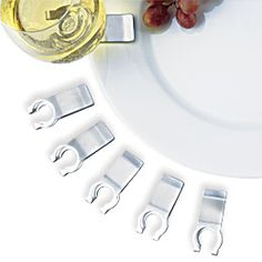 Wine Glass Plate Clips - Set of 6, http://www.amazon.com/dp ...