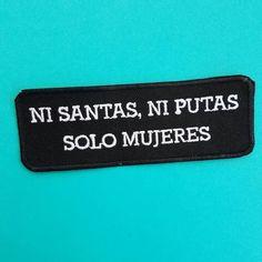 Ni Santas Ni Putas Iron On Patch by shophermosa on Etsy