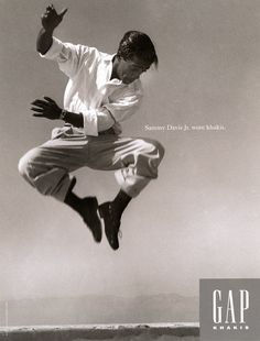 """Who Wore Khakis"" Gap campaign, Sammy Davis Jr., 1993."