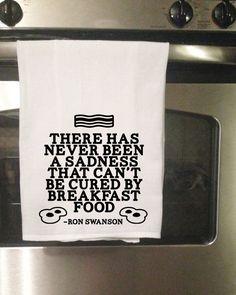 Breakfast Food Ron Swanson Towel by TinyGeekShop on Etsy