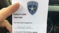 Instead of giving tickets this police department is asking for toys for children in need