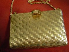 Rodo Italy Gold Metallic Evening Purse is Vintage and Rare! So Retro Cool. Must see. :)