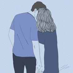 그대모습은 보랏빛처럼 ~~ #illustration #drawing #couple #lovers #purple #일러스트 #드로잉 #커플