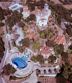 Hearst Castle - U.S. National Historic Landmark, U.S. National Register of Historic Places #72000253, California Historical Landmark #640 in San Luis Obispo County. Hearst Castle, San Simeon, California