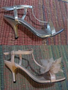 Before & After Wedding shoes AND I made them myself! :)