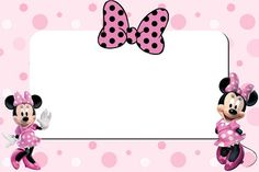 Minnie Mouse Printable invitation card
