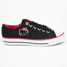 Hello Kitty Shoes and like OMG! get some yourself some pawtastic adorable cat apparel! Hello Kitty Shoes, Hello Kitty Clothes, Hello Kitty Items, Sock Shoes, Cute Shoes, Me Too Shoes, Shoe Boots, Air Force One, Kitty Images