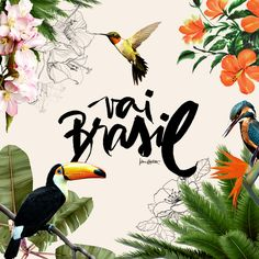 by Karen Hofstetter Why is digital calligraphy so beautiful? by Karen Hofstetter Why is digital calligraphy so beautiful? Poster Design, Art Design, Layout Design, Motif Tropical, Tropical Design, Tropical Style, Designers Gráficos, Typography Design, Branding Design