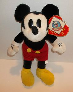 85e377b72fd Mickeys World Collection HEART BEAT Disney Plush Mouse With Tags RARE 12  inch  Encore