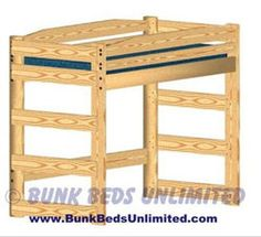 Loft bed woodworking plans Wood cost to build this Triple Bunk Bed Plan 177 These additions will help you to get more use out of your OP Loftbed Build a loft bed Build A Loft Bed, Loft Bed Plans, Loft Plan, Safe Bunk Beds, Kids Bunk Beds, Loft Beds, Bunk Bed With Stairs And Storage, Woodworking Bed, Woodworking Projects