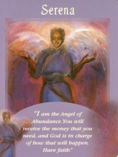 Serena Angel Card Extended Description - Messages from Your Angels Oracle Cards by Doreen Virtue