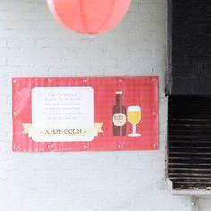 Banner   Bierfeest #retirement #tuinfeest #housewarming #banner #beerparty #Beaublue