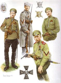 WW1 Russian army - Death's batallion badges