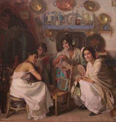 Dias de Fiesta o Granadinas by José María López Mezquita (Spanish 1883 - 1954)