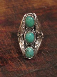 adjustable turquoise sterling silver ring, 50.00 from Gypsy River
