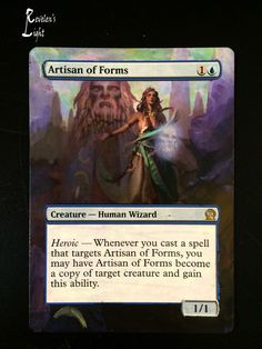 Artisan of Forms - Theros ~ Hand Painted Altered Art MTG Cards ~ Magic Alters