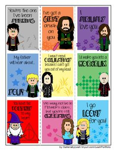 Harry Potter Valentines. AMAZING.