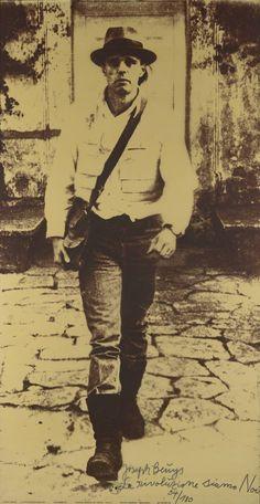 Joseph Beuys (1921‑1986)  La Rivoluzione Siamo Noi  1972  Silkscreen with Handwritten Text and Stamp  1896 x 987 mm