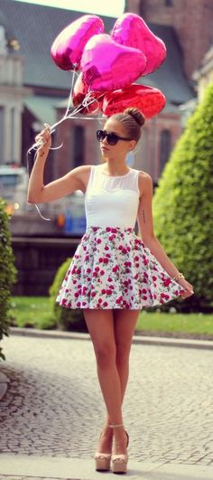 Lovin this outfit (every part) The shoes are adorbs and the dress is perfect for the summer weather,it is very casual.... :)