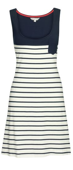 Nautical Breton Striped Dress - http://boomerinas.com/2013/02/cruise-clothing-nautical-stripes-sailor-style/