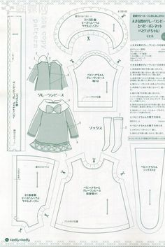 """Photo from album """"Dolly dolly 2012 on Yandex. Barbie Clothes Patterns, Sewing Doll Clothes, Doll Dress Patterns, Sewing Dolls, Girl Doll Clothes, Clothing Patterns, Girl Dolls, Fashion Sewing, Fashion Dolls"""